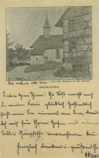 Hermann Hesse an Ludwig Thoma,