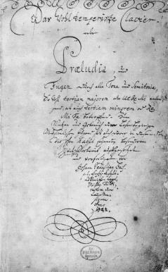 Titelblatt des Autographs von 1722