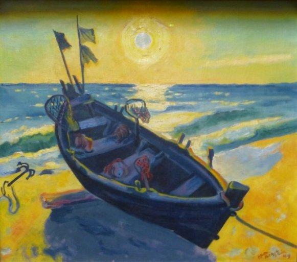 Boot bei aufgehender Sonne (1948)1