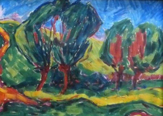 Landschaft mit Bäumen (1909 - 1910)1
