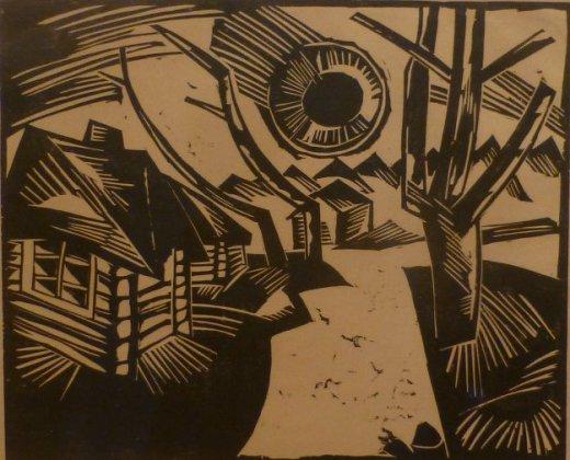 Rusische Landschaft mit Sonne (1919)1