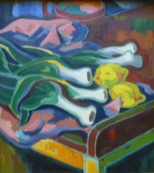 Stilleben mit Porree (1948)1