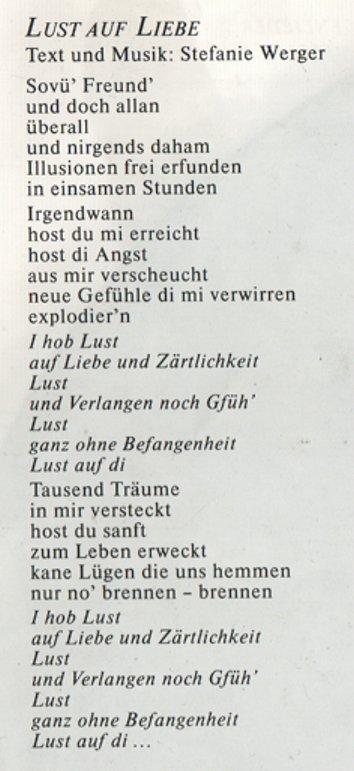 Text LustLiebe