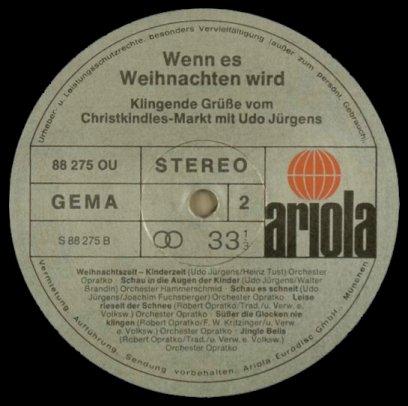 Udo Jürgens Weihnachtslieder.Udo Jürgens Wenn Es Weihnachten Wird 1974 Sammelsurium