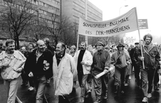 Berlin, Demonstration; Herbert Köfer
