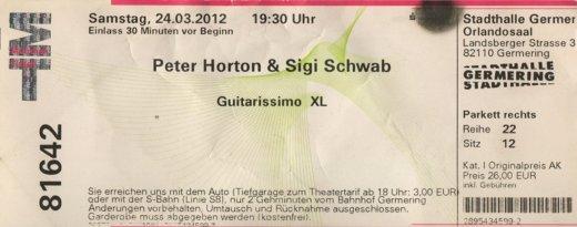 Peter Horton & Sigi Schwab Germering 24.3.2012