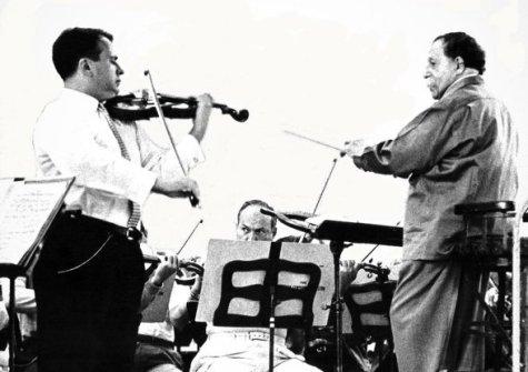 Henryk Szeryng mit Pierre Monteux , 1959
