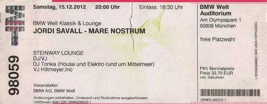 Jordi Savall BMW Welt Klassik & Lounge, München 15 Dezember 2012