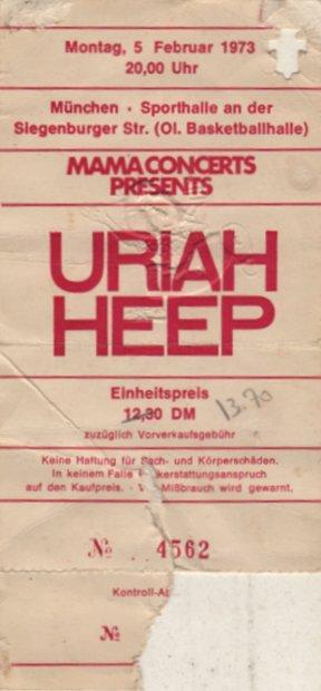 Uriah Heep München 05. Februar 1973