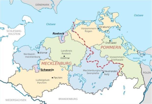 Karte Mecklenburg