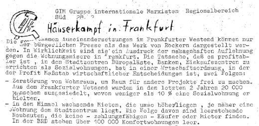 Flugblatt (Auszug)