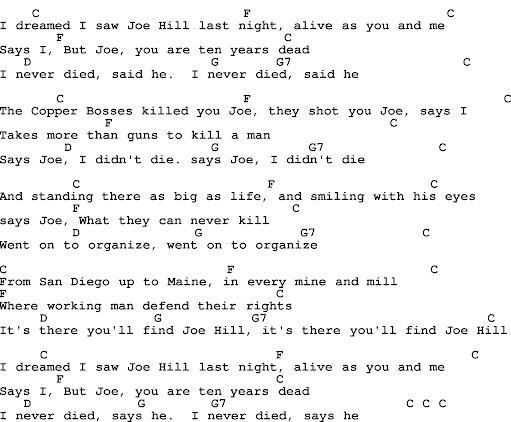 JoeHillLyrics