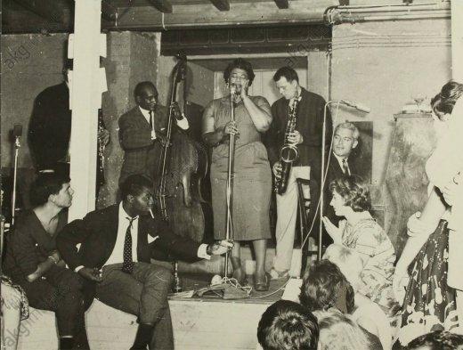 Jazz-Sängerin Ella Fitzgerald und Saxophonist Hans Koller